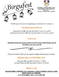 birgu fest flyer image 2017